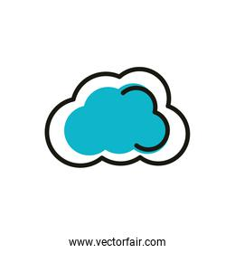 cloud computing social media icon line and fill