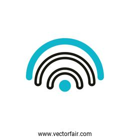 wifi internet social media icon line and fill