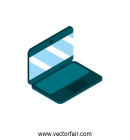laptop computer social media isometric icon