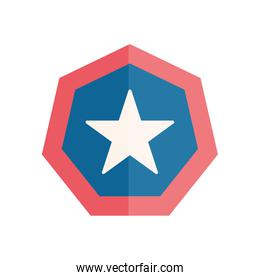 Isolated seal stamp with star flat style icon vector design