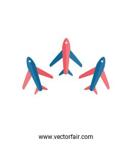 Isolated airplanes flat style  design