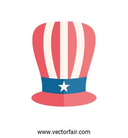 Isolated usa hat flat style icon vector design