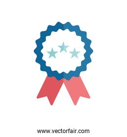 Isolated seal stamp with stars and ribbon flat style icon vector design