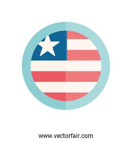 Isolated usa seal stamp flat style icon vector design