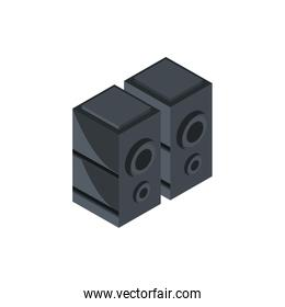 speakers technology hardware device computer isometric