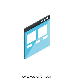 website information content digital technology isometric