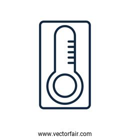thermometer icon, line style