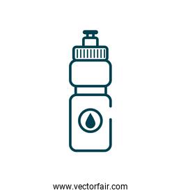 water bottle with drop icon, line style