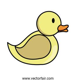 ducky child toy flat style icon