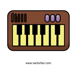 piano instrument musical flat style icon