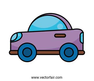 car child toy flat style icon