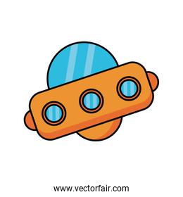 space ship flat style icon