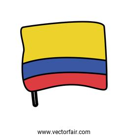 colombia flag country isolated icon