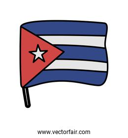 cuba flag country isolated icon