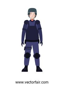 riot police with uniform character
