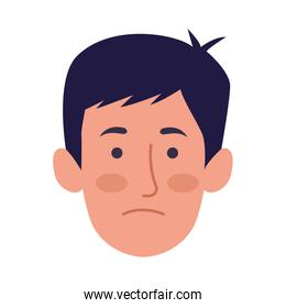 young man head character icon