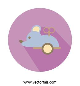 mouse mechanic toy block style icon