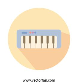 piano instrument musical block style icon