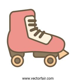 skate roller child toy block style icon