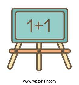chalkboard with numbers block style