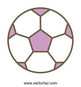 soccer balloon child toy isolated icon
