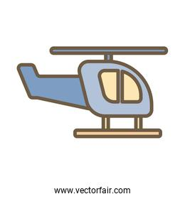 helicopter flying child toy block style icon