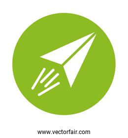 paper air plane isolated icon