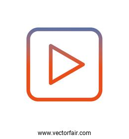 Video player button isolated icon