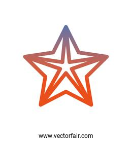 Sea star animal isolated icon
