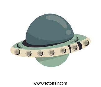 space ufo flying isolated icon