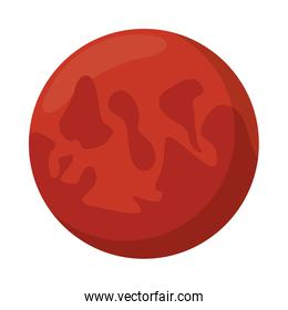space mars planet isolated icon
