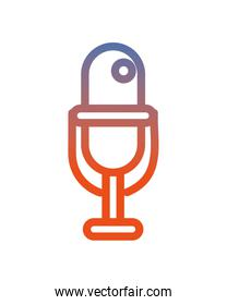 microphone sound device isolated icon