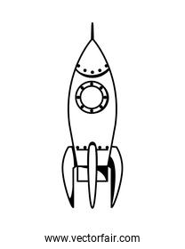 space rocket startup launcher icon