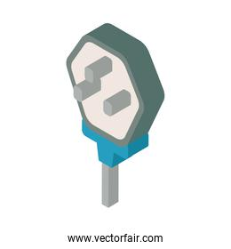 electric connection socket isolated icon