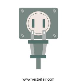 energy connector plug isolated icon