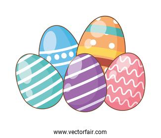 eggs painted easter decoration icons