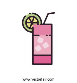 Isolated alcohol cocktail fill style icon vector design