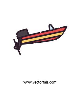 Isolated lboat fill style icon vector design