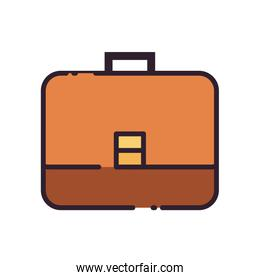 Isolated suitcase bag fill style icon vector design