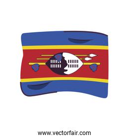 swaziland flag country isolated icon