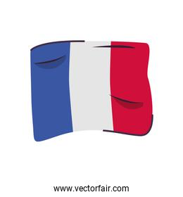 france flag country isolated icon