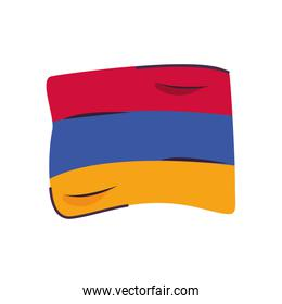 armenia flag country isolated icon