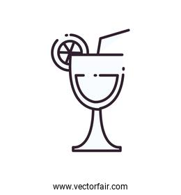 Isolated alcohol cocktail line style icon vector design