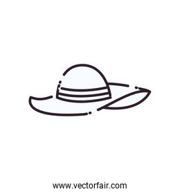 Isolated female hat line style icon vector design