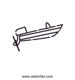 Isolated lboat line style icon vector design