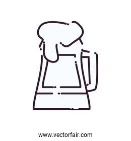 Isolated glass of beer line style icon vector design