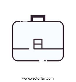 Isolated suitcase bag line style icon vector design