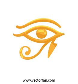 horus eye egyptian symbol isolated icon