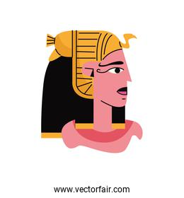 min Egyptian god character isolated icon