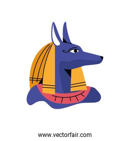 anubis Egyptian god character isolated icon